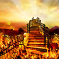 Road From Hell to Heaven Royalty Free Stock Photo