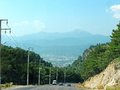 Road in high mountains fethiye turkey Royalty Free Stock Images