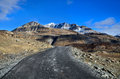 Road in himalayas mountains the high altitude manali leh ladakh himachal pradesh india Stock Photo