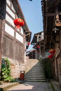 Road hole town one of the top ten most attractive town chongqing song and ming dynasties where it naturally built for peddler some Royalty Free Stock Images