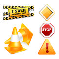 Road icon set Royalty Free Stock Photos