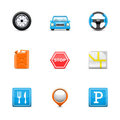 Road icons Royalty Free Stock Photos