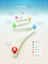 Road infographic design template vector elements are layered separately in vector file Royalty Free Stock Image