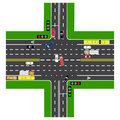 Road infographics. Most of the highway intersection with the road.