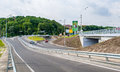 Road interchange in Kyiv Stock Photo