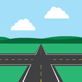 Road intersection with sky background Royalty Free Stock Photo