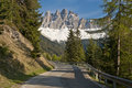 Road in the Italian Alps Stock Photo