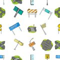 Road junctions and signs and other web icon in cartoon style.Pedestrian crossings and signs icons in set collection. Royalty Free Stock Photo