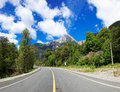 On the road in lago las torres national reserve chile south america is a of Stock Image
