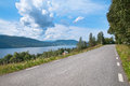 Road by lake Royalty Free Stock Photo
