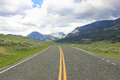 Road in Lamar Valley, Yellowstone Royalty Free Stock Photo