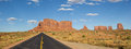 Road leading to Monument Valley in Arizona Royalty Free Stock Photo