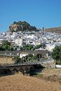 Road leading white village ardales malaga province andalusia spain western europe Stock Photography