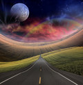 Road leads into distance Royalty Free Stock Image
