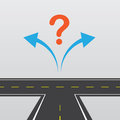 Road left or right with and arrows Royalty Free Stock Image