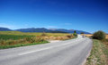 Road at liptov and rohace mountains summertime view of in region leading to liptovsky mikulas town slovakia part of western tatras Royalty Free Stock Images