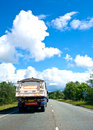 Road maintenance lorry by the roadside Stock Images