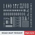 Road Map Toolkit Royalty Free Stock Photo