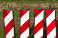 Road markers reflectors at a construction site Royalty Free Stock Photography