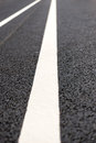 Road markings new asphalt with Stock Image