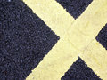 Road Markings in shape of X Royalty Free Stock Photo