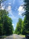 A road through the Mattatuck Trail Royalty Free Stock Photo