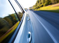 Road with motion blur picture of outdoors Stock Photos