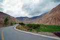 Road mountain and cloudy sky in tibet Royalty Free Stock Image