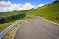 Road through the mountain in summer season in romanian mountains Royalty Free Stock Images