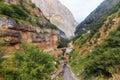 The road in the mountains leading to the village of griz guba az azerbaijan nature Royalty Free Stock Photos