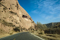 The road through mountains in zhangye gansu of china Stock Image