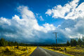 A road near tongariro national park picture of deserted somewhere Royalty Free Stock Images