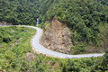 Road near tram ton pass in sapa vietnam Stock Photography