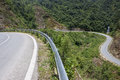 Road near tram ton pass in sapa vietnam Royalty Free Stock Photo