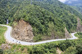 Road near tram ton pass in sapa vietnam Royalty Free Stock Image