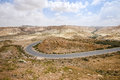 Road through the Negev Desert in Israel Royalty Free Stock Photo