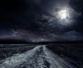 Road in the night Royalty Free Stock Photo