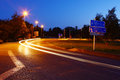 Road in night the geneva suburb switzerland Royalty Free Stock Photo