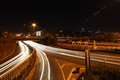 Road in night the jianguomen the at beijing Royalty Free Stock Photos