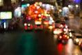 Road night light bokeh , defocused blur background Royalty Free Stock Photo