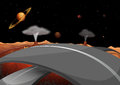 A road in the outer space illustration of Stock Photography