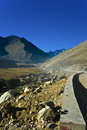 Road over Himalayan Mountains Royalty Free Stock Photos