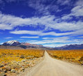The road in the pampas endless patagonia argentina desert Royalty Free Stock Photography