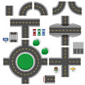 Road parts asphalt plan template Royalty Free Stock Photo