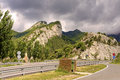 Road in Pyrenees mountains Stock Photography