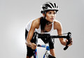 Road racing bicycle woman Stock Photos
