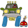 Road Rage Driver Stock Images