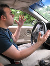 Road Rage Man Stock Images