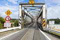 Road rail bridge combined one lane and in hokitika new zealand Stock Image