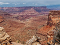 Road through red canyon a dirt winds its way the canyons of canyonlands national park utah Royalty Free Stock Image